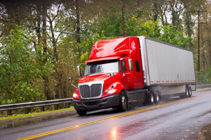 image of big rig driving in indiana